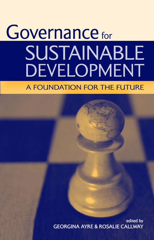 Governance for Sustainable Development A Foundation for the Future