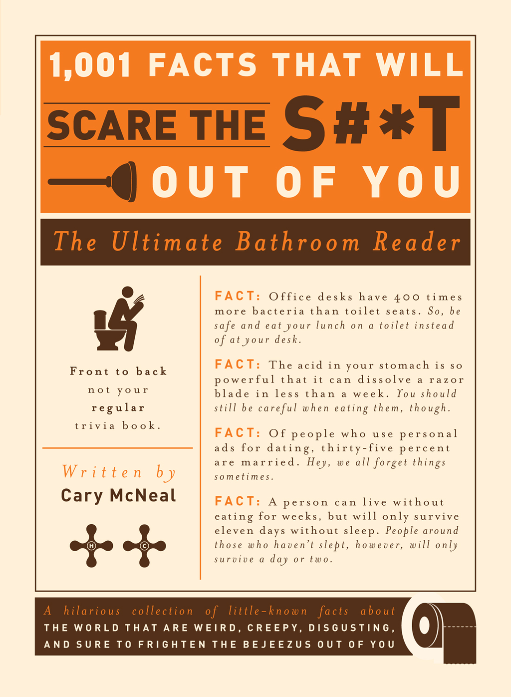 1,001 Facts that Will Scare the S#*t Out of You: The Ultimate Bathroom Reader By: Cary McNeal