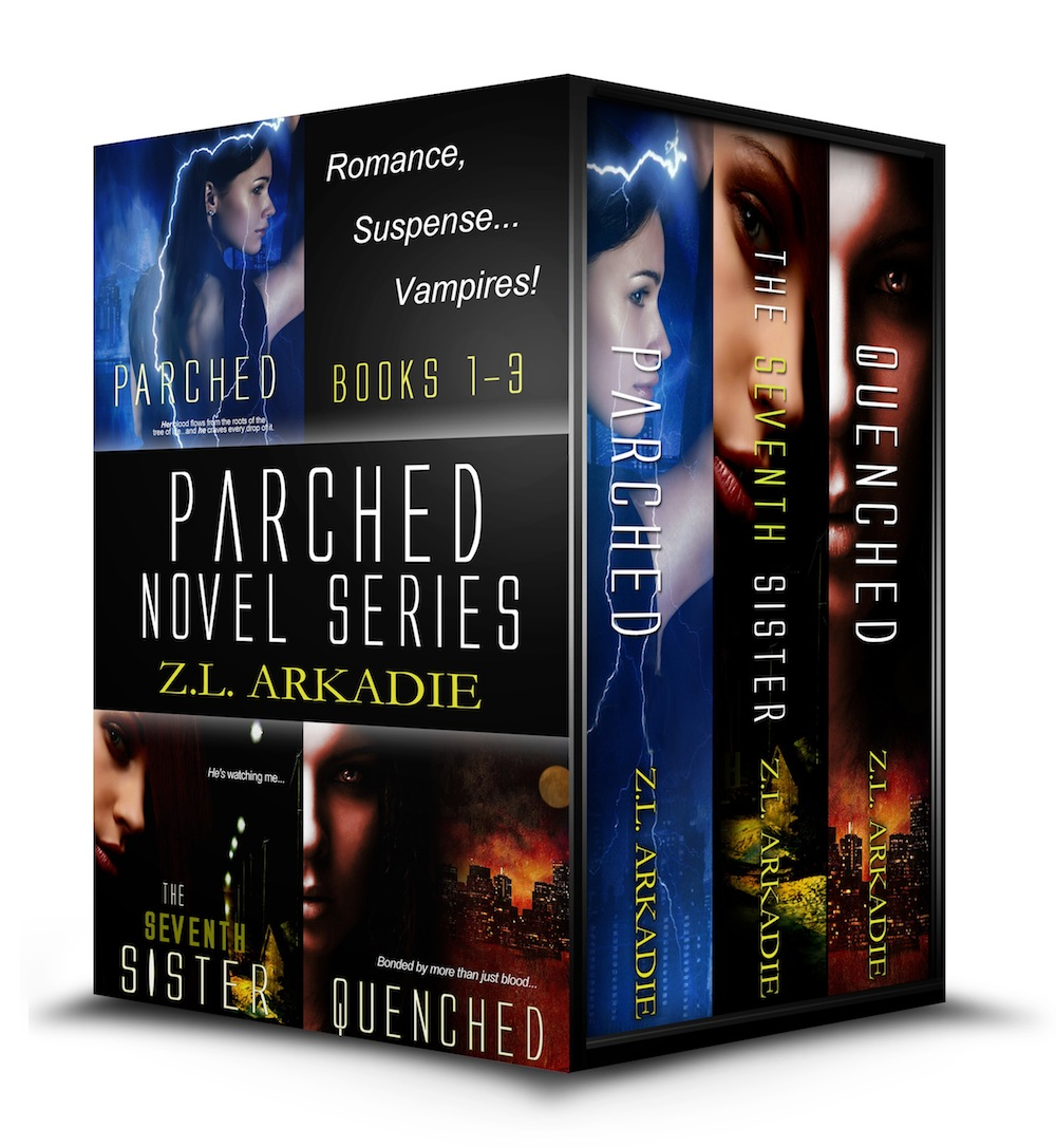 Z.L. Arkadie - Parched Novel Series, A Vampire Romance (Books 1-3)