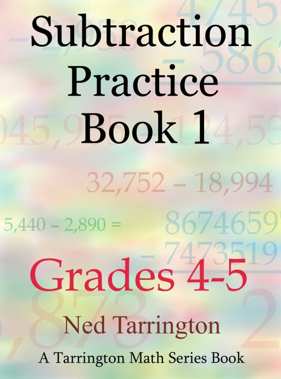 Subtraction Practice Book 1, Grades 4-5