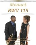 download Menuet BWV 115 Pure sheet music duet for C instrument and Eb instrument arranged by Lars Christian Lundholm book