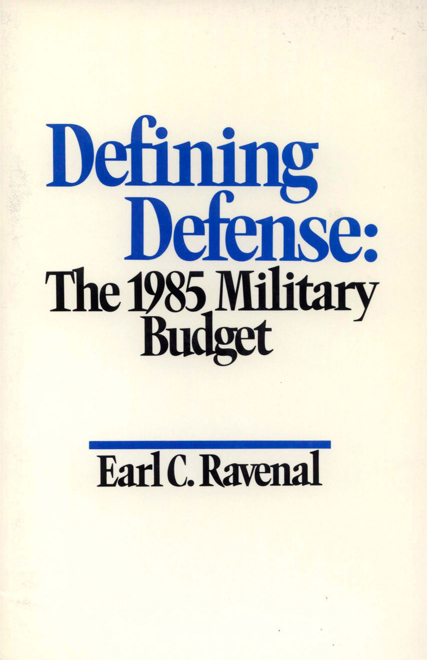 Defining Defense: The 1985 Military Budget