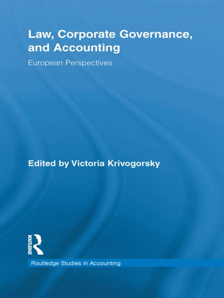 Law,  Corporate Governance,  and Accounting European Perspectives