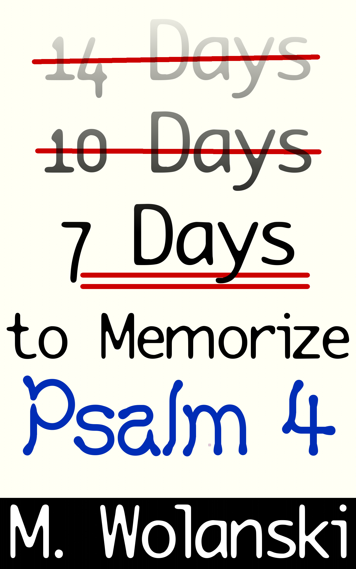 7 Days to Memorize Psalm 4