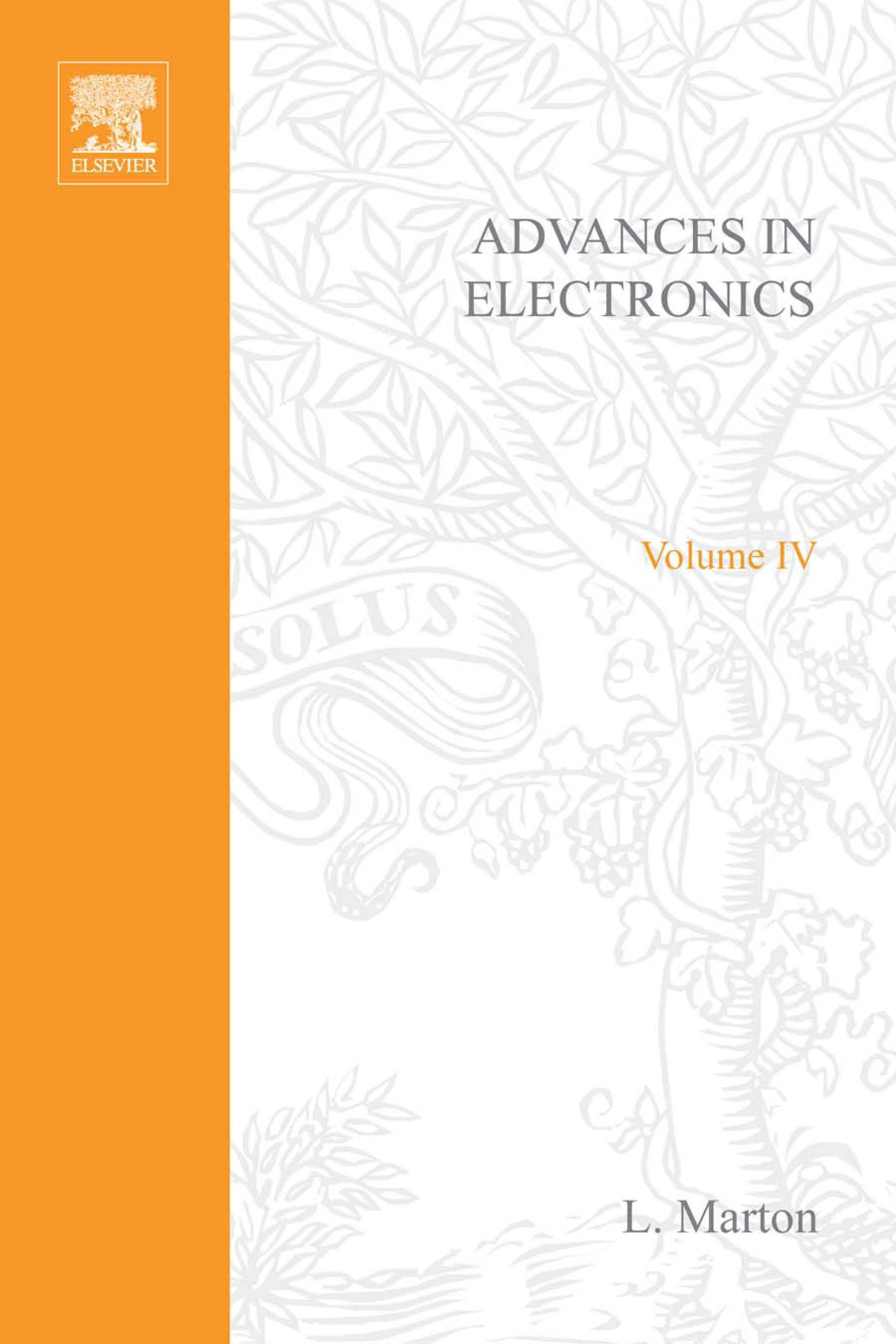 ADVANCES ELECTRONIC &ELECTRON PHYSICS V4 By: AUTHOR, UNKNOWN