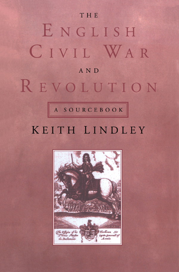 The English Civil War and Revolution A Sourcebook