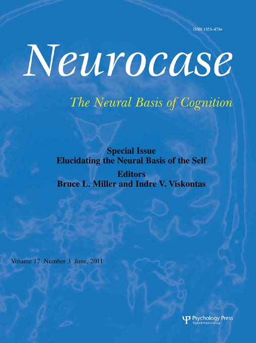 Elucidating the Neural Basis of the Self A Special Issue of Neurocase