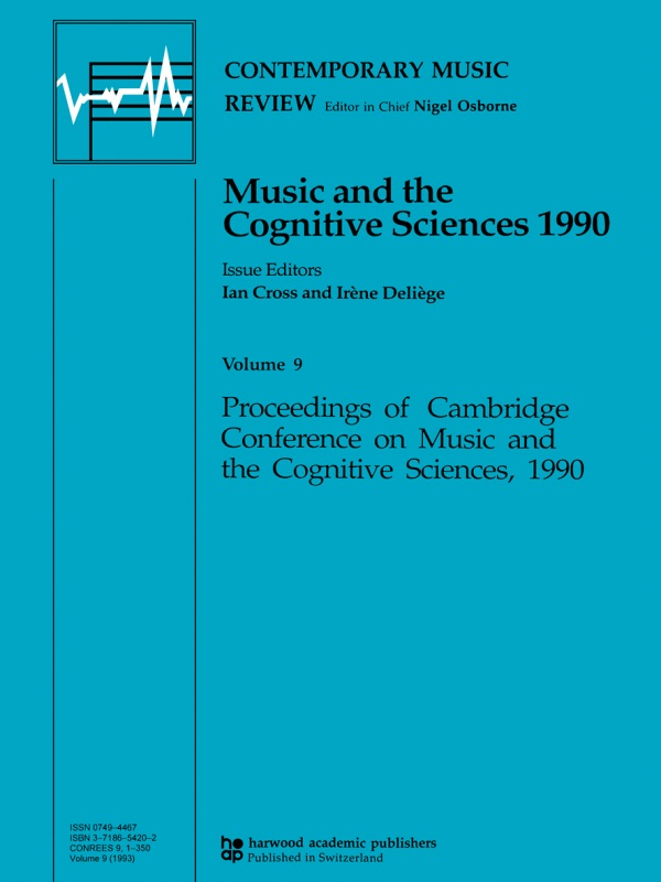 Music and the Cognitive Sciences 1990
