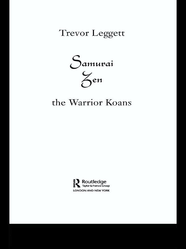 Samurai Zen The Warrior Koans