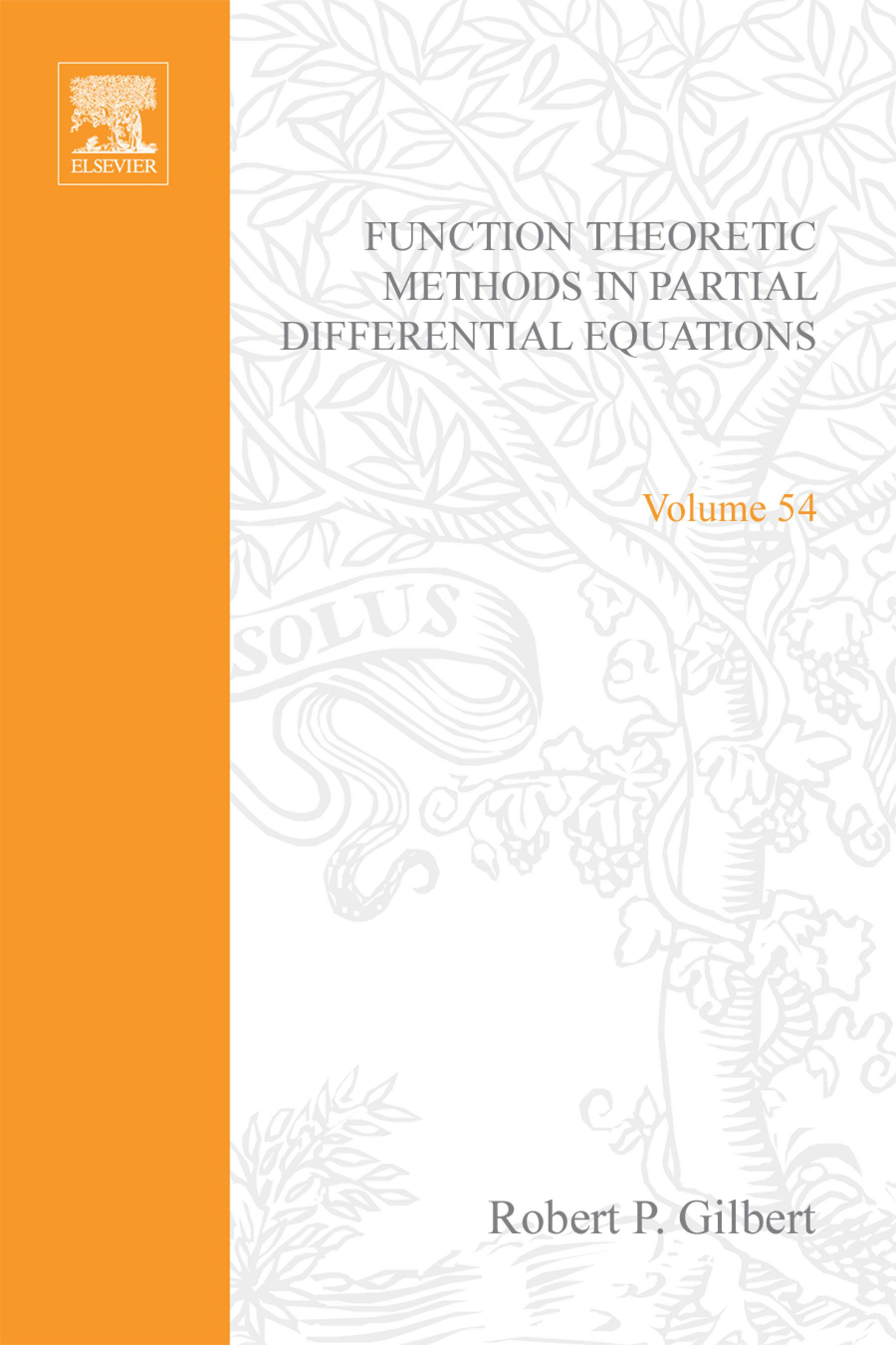 Elizabeth Gilbert - Function theoretic methods in partial differential equations