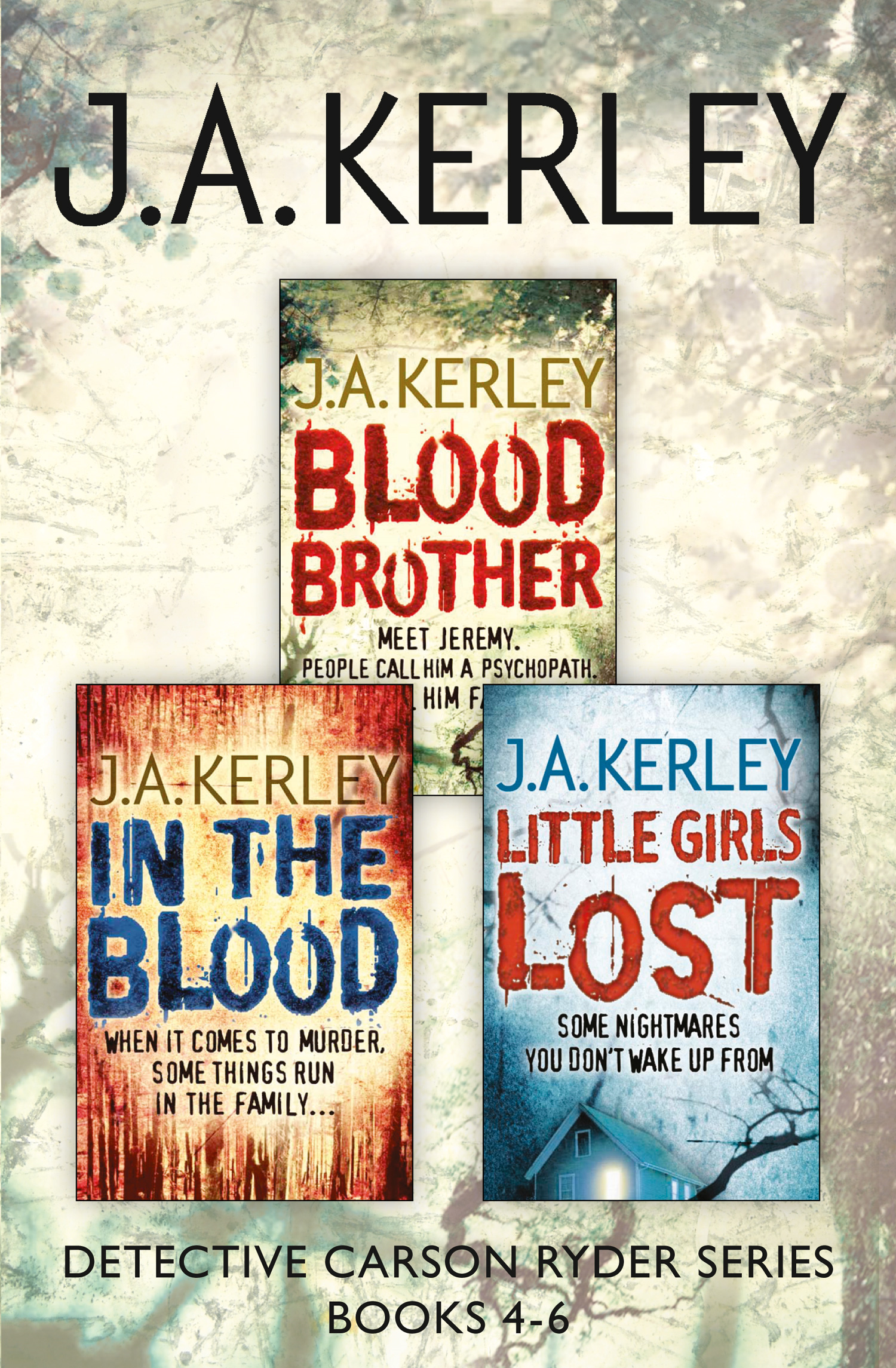 Detective Carson Ryder Thriller Series Books 4-6: Blood Brother, In the Blood, Little Girls Lost
