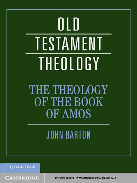 The Theology of the Book of Amos
