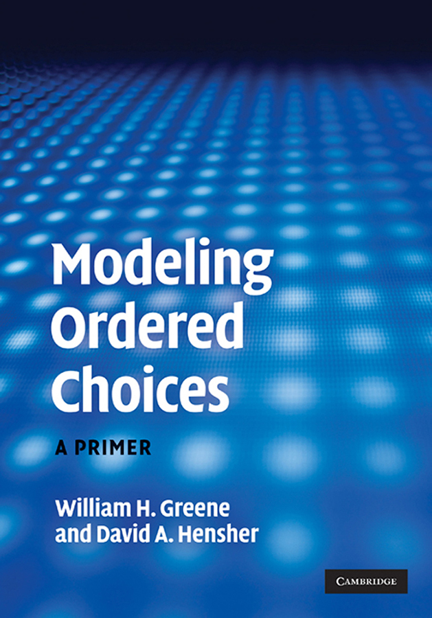 Modeling Ordered Choices A Primer