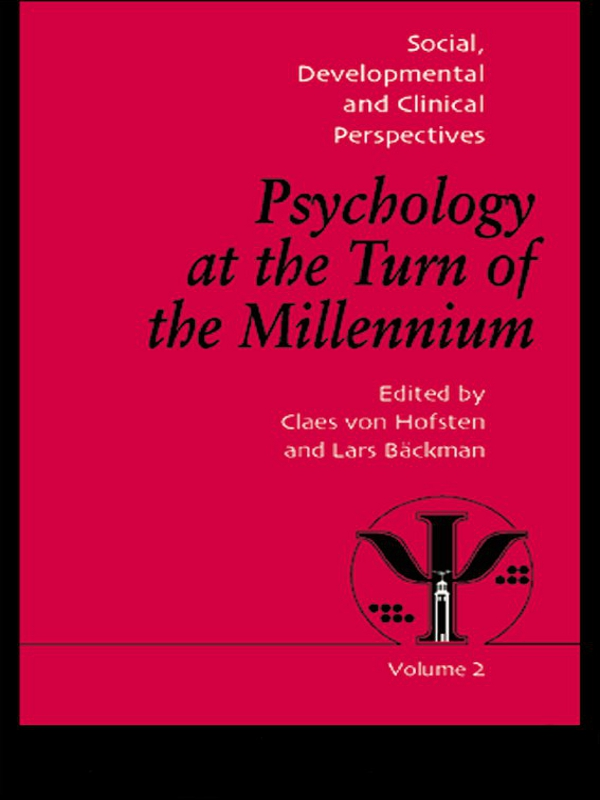Psychology at the Turn of the Millennium, Volume 2