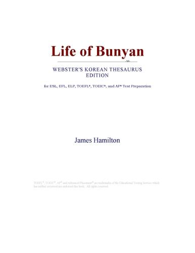 Life of Bunyan (Webster's Korean Thesaurus Edition)