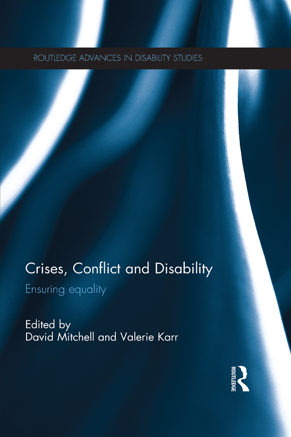 Conflict,  Disaster and Disability Ensuring Equality