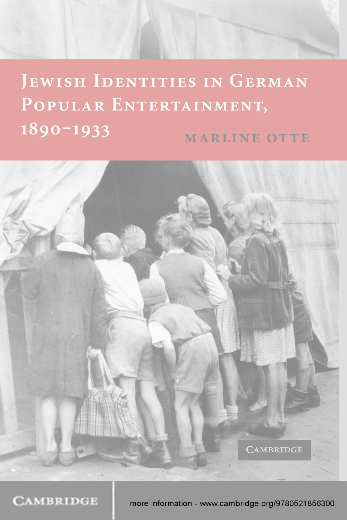 Jewish Identities in German Popular Entertainment,  1890?1933