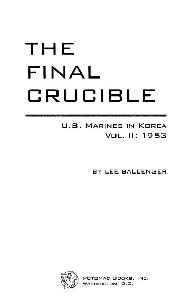 The Final Crucible By: Lee Ballenger