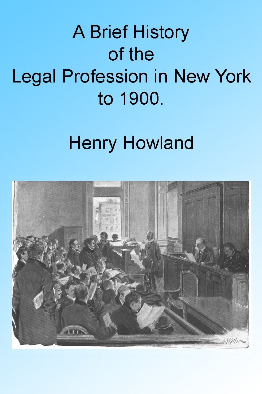 A Brief History of the Legal Profession in New York to 1900, Illustrated