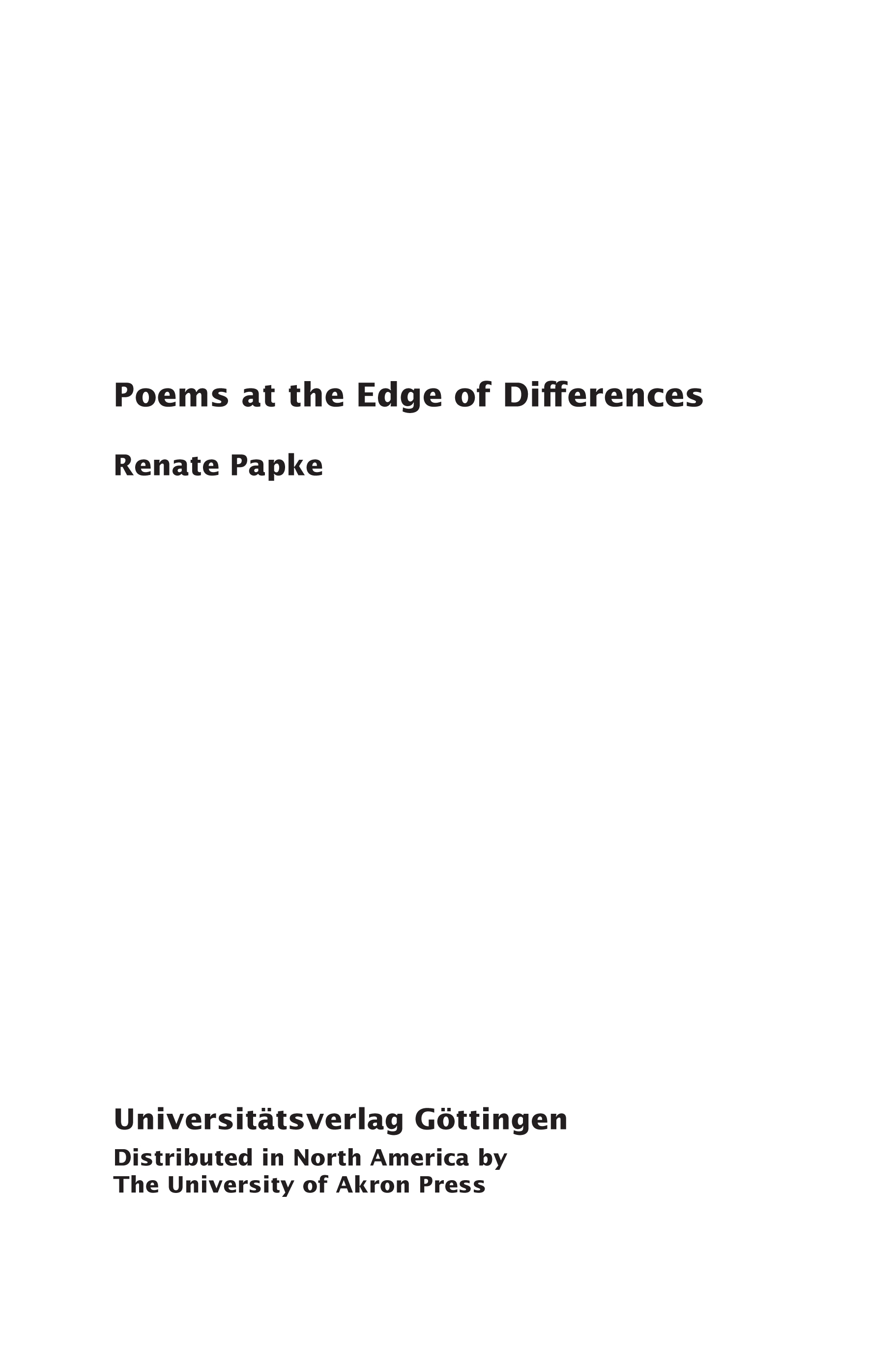 Poems at the Edge of Differences: Mothering in New English Poetry by Women