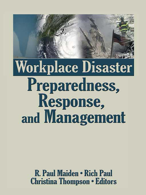 Workplace Disaster Preparedness  Response  and Management