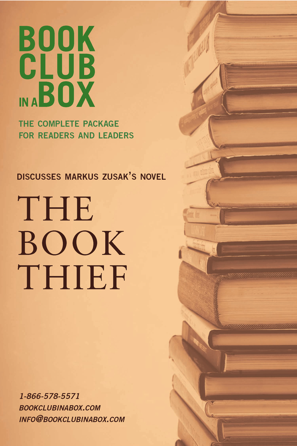 Bookclub-in-a-Box Discusses The Book Thief, by Markus Zusak: The Complete Package for Readers and Leaders
