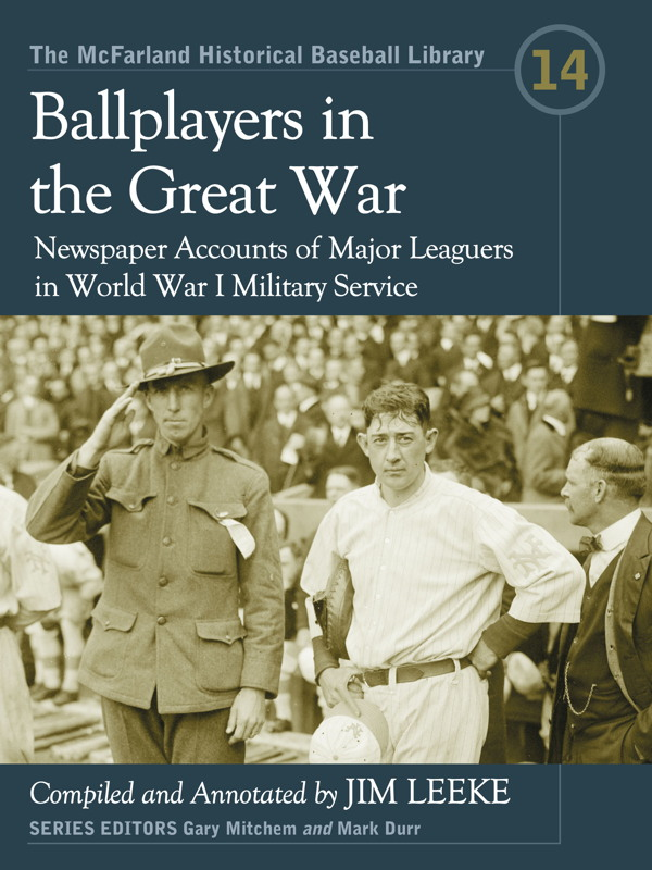 Ballplayers in the Great War