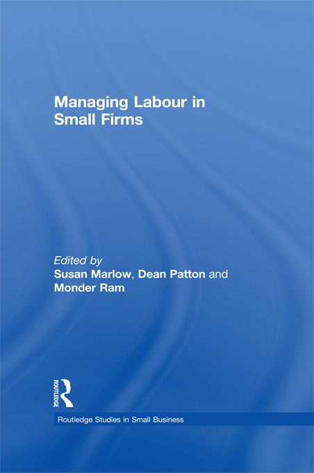 Managing Labour in Small Firms
