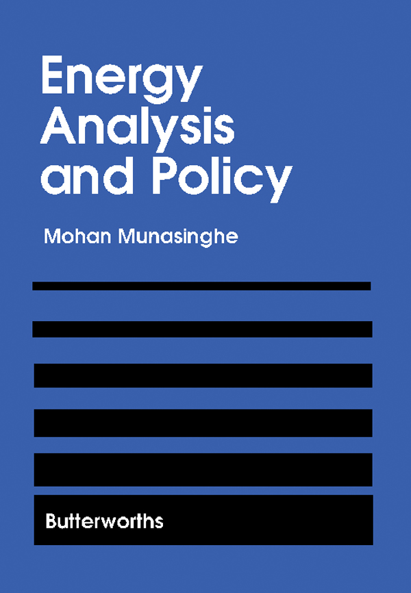 Energy Analysis and Policy Selected Works