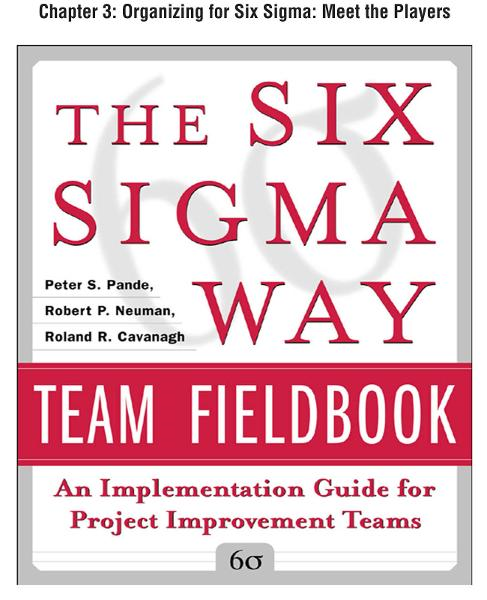 The Six Sigma Way Team Fieldbook, Chapter 3 - Organizing for Six Sigma Meet the Players