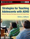Strategies For Teaching Adolescents With Adhd: