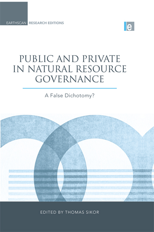 Public and Private in Natural Resource Governance