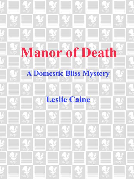 Manor of Death By: Leslie Caine