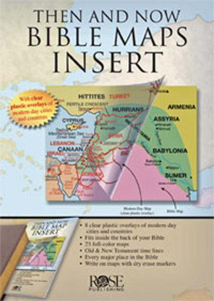 Then & Now Rose Bible Map Insert®