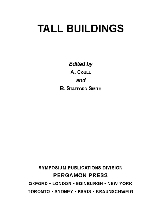 Tall Buildings The Proceedings of a Symposium on Tall Buildings with Particular Reference to Shear Wall Structures,  Held in the Department of Civil En