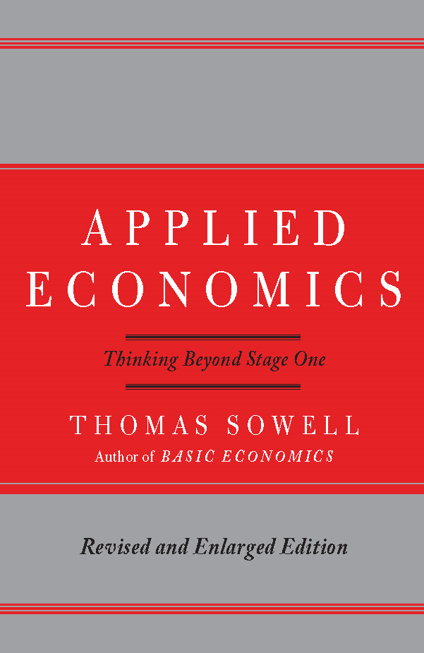 Applied Economics By: Thomas Sowell