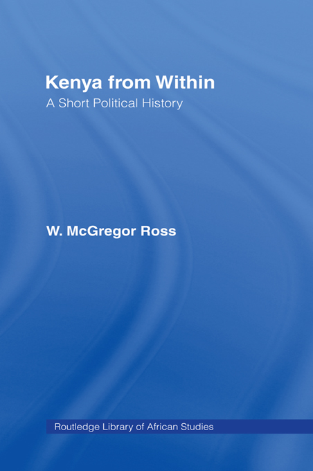 Kenya from Within A Short Political History