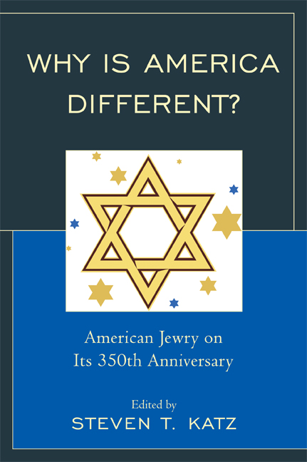 Why Is America Different? American Jewry on its 350th Anniversary