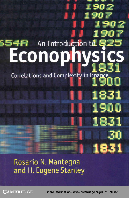 Introduction to Econophysics By: Mantegna, Rosario N.