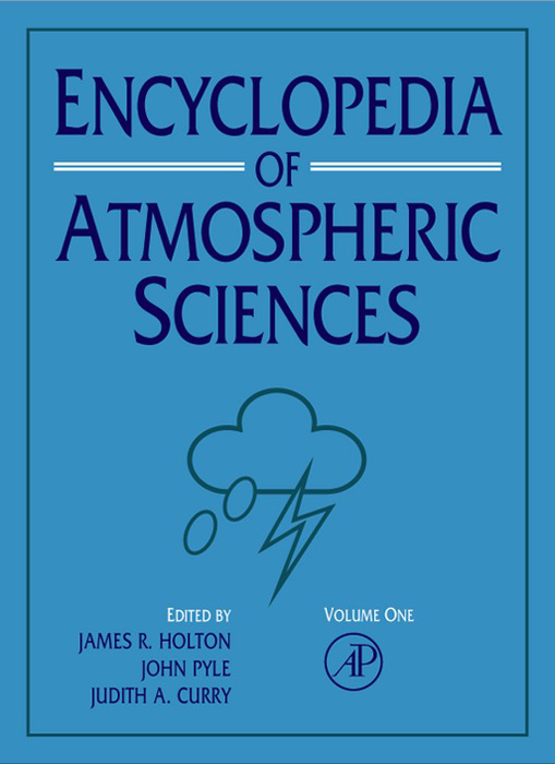 Encyclopedia of Atmospheric Sciences,  1st Edition V1-6