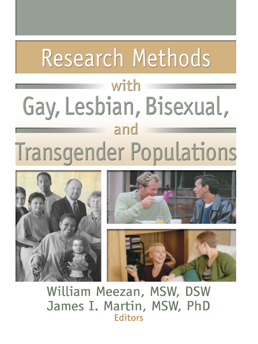 Research Methods with Gay  Lesbian  Bisexual  and Transgender Populations