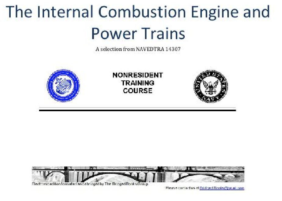 The Internal Combustion Engine and Power Trains