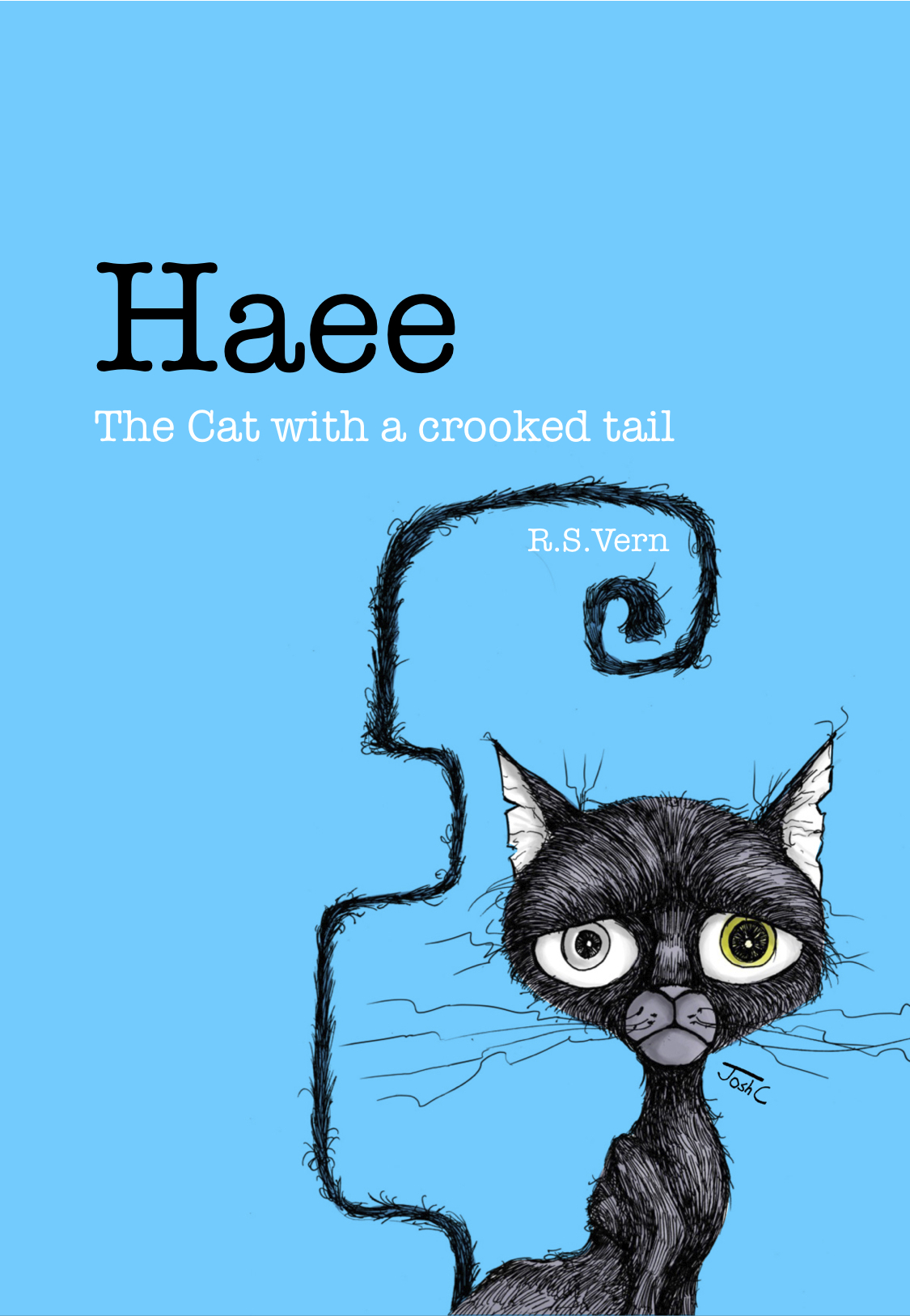 Haee The cat with a crooked tail