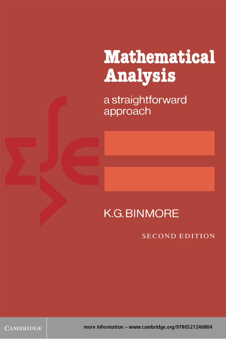 Mathematical Analysis A Straightforward Approach