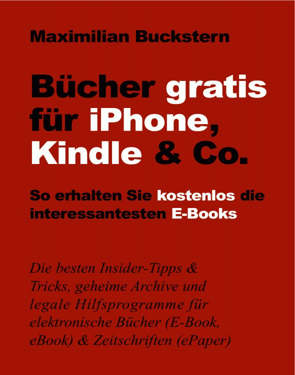 Bücher gratis für iPhone, Kindle & Co.