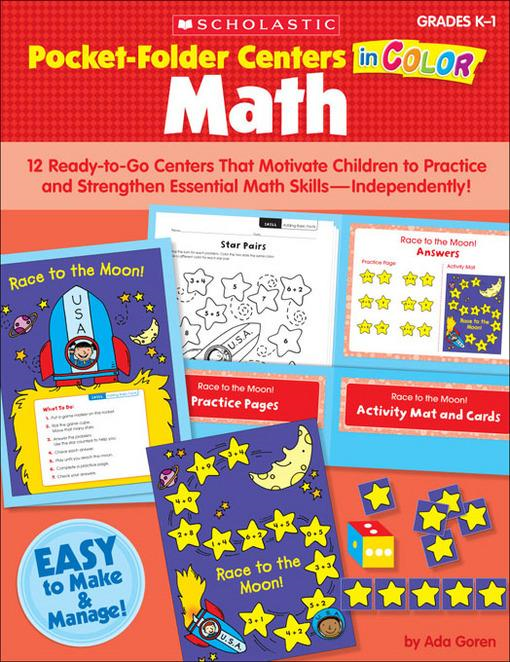 Pocket Folder Centers in Color: Math Grades K-1: 12 Ready-to-Go Centers That Motivate Children to Practice and Strengthen Essential Math Skills-Indepe