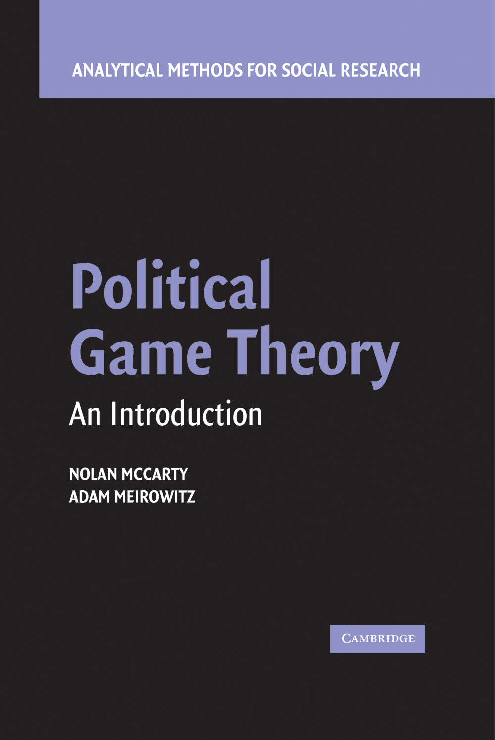 Political Game Theory An Introduction