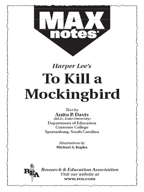 To Kill a Mockingbird (MAXNotes Literature Guides) By: Anita Price Davis