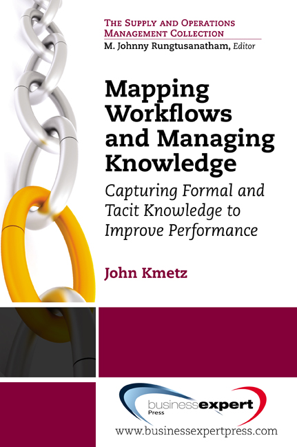 Mapping Workflows and Managing Knowledge: Capturing Formal andTacit Knowledge to ImprovePerformance By: John L. Kmetz