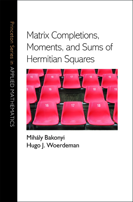 Matrix Completions,  Moments,  and Sums of Hermitian Squares